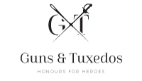 guns and tuxedos logo kot rabatowy