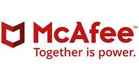 mcafee logo kot rabatowy