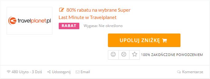 kod rabatowy travelplanet