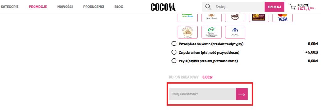 cocolita kod rabatowy