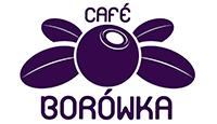 Cafe Borówka logo kot rabatowy