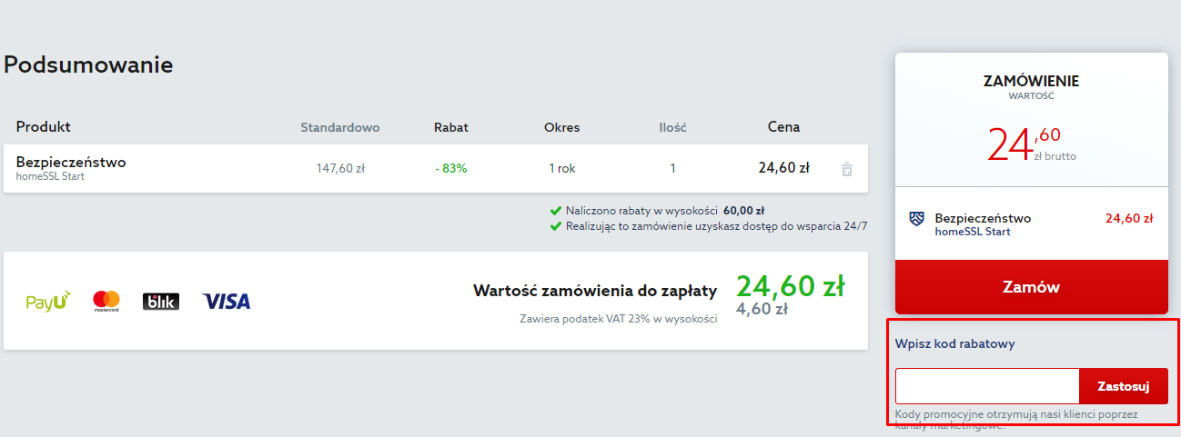 home.pl kod rabatowy