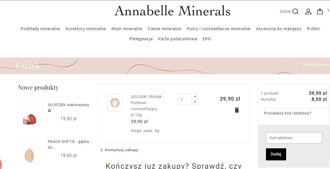 annabelle minerals kod rabatowy